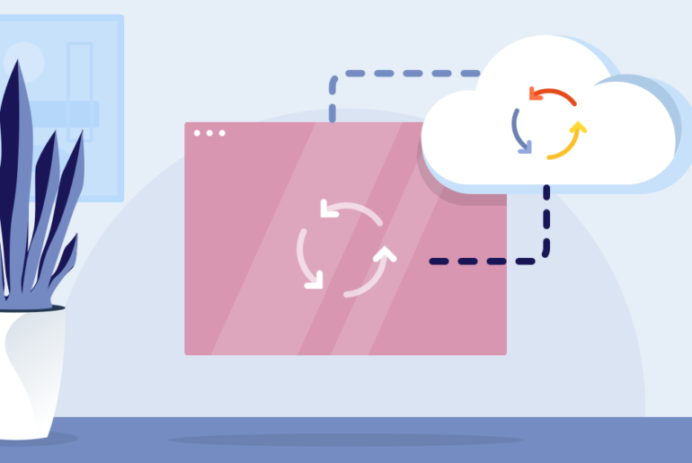Cloud directory illustration